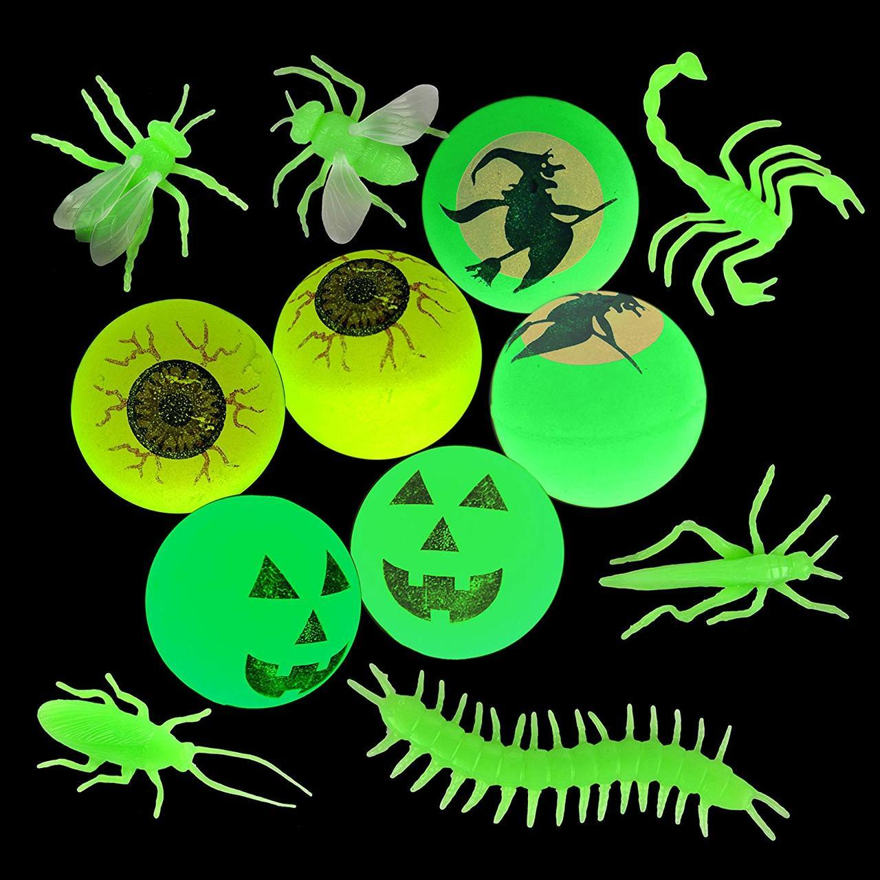 Glow-in-the-Dark Halloween Bugs, 100-Pack