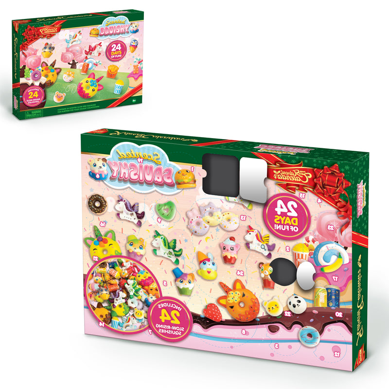 2020 Christmas Advent Calendar with 24 Scented Slow-Rising Squishies