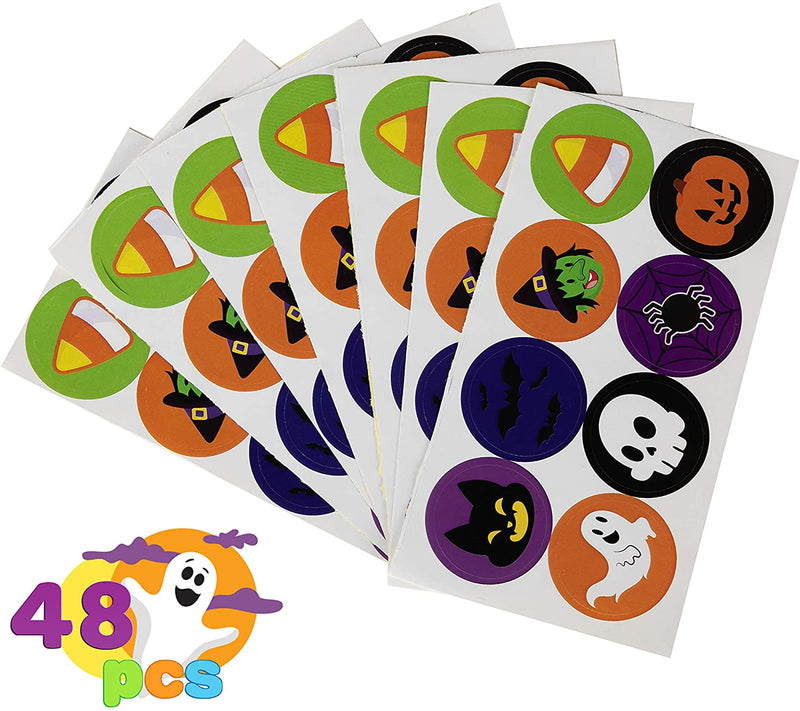 48 Piece Halloween Treat Bags With Stickers