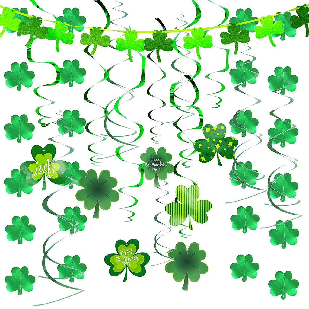 St. Patrick's Decoration Shamrock Foil Strings