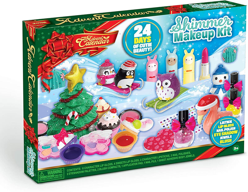 Advent Calendar with Little Figures Make Up Set