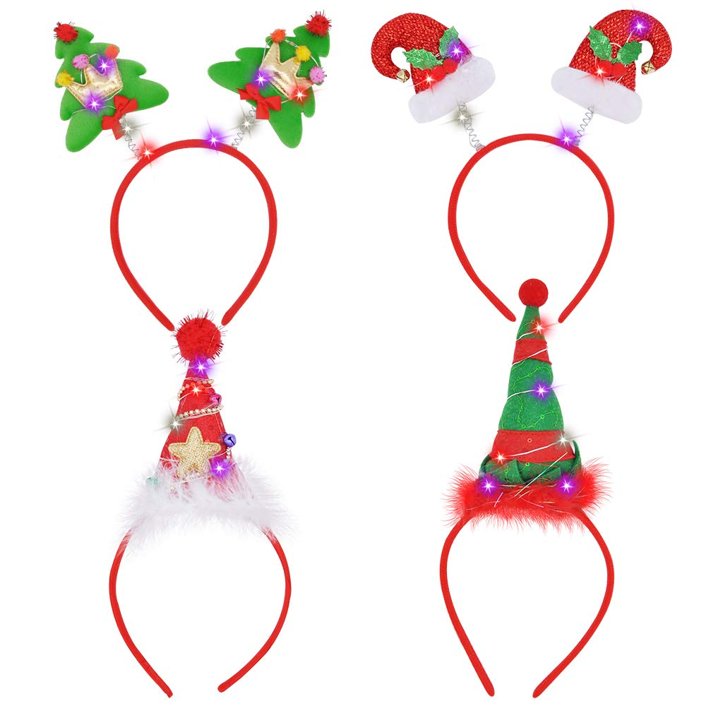 4 Piece Light-Up Christmas Headbands