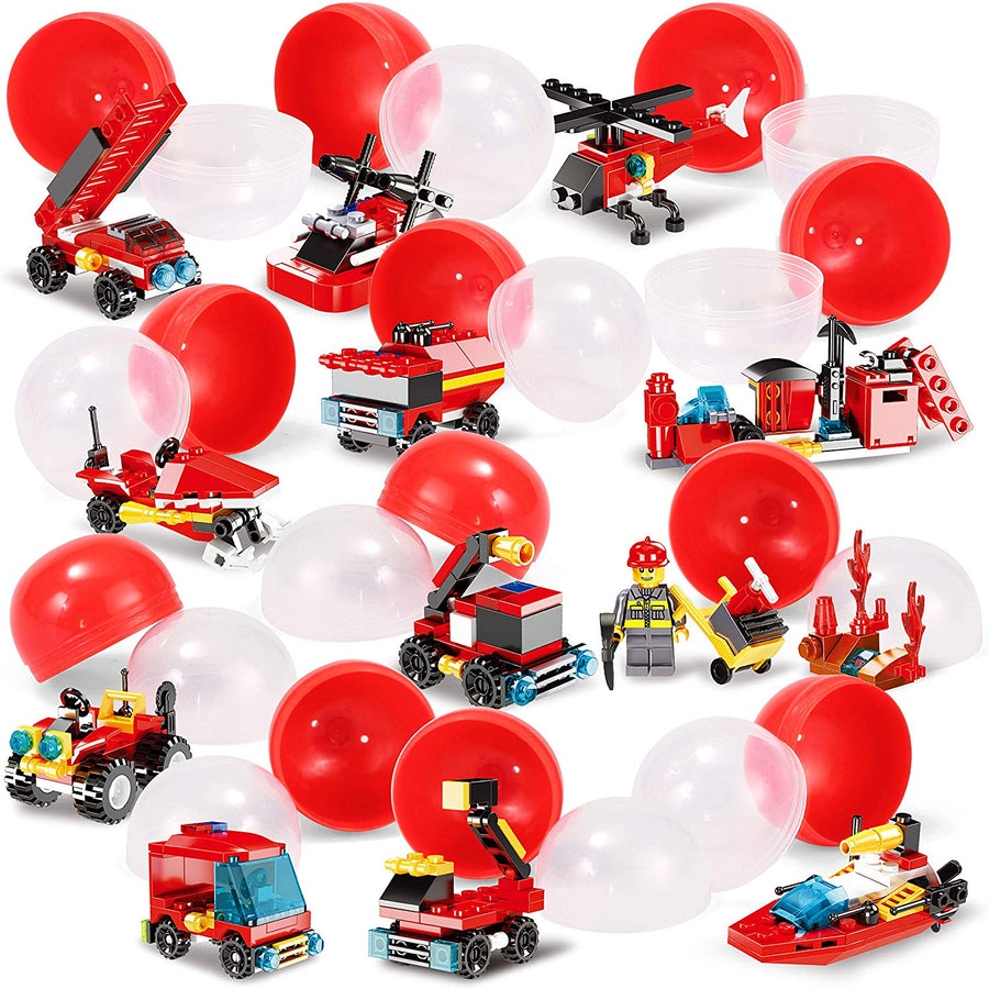 Prefilled Easter Eggs with Fire Trucks