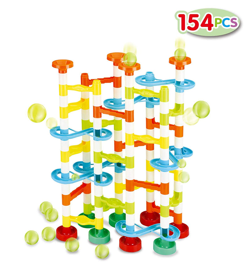 154 Piece Marble Run Premium Toy Set