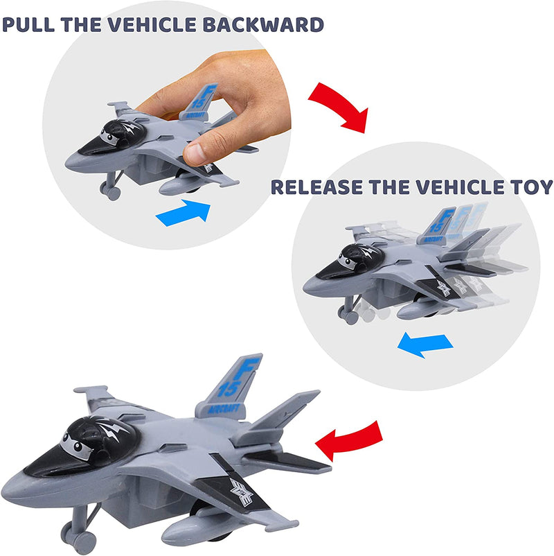 2020 Christmas Advent Calendar with Pull-Back Aircraft and Vehicles