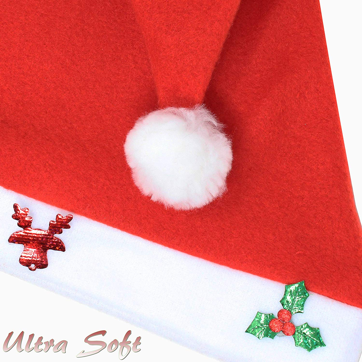 Fancy Santa Hats with Jingle Bells Necklaces