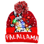 Christmas Falalallama Llama Lit-up Knitted Beanie