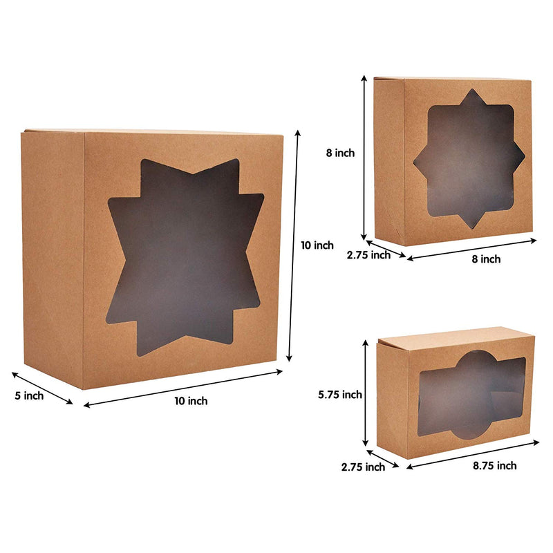 20 Piece Kraft Bakery Cookie Boxes Set