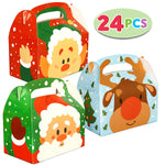 3D Christmas House Cardboard Treat Boxes
