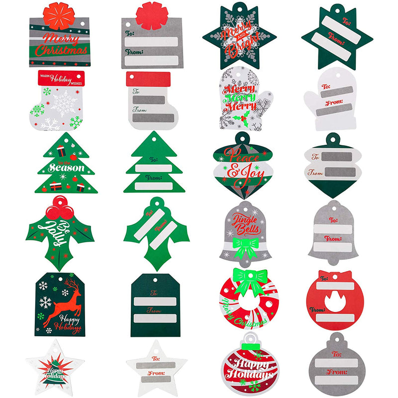 Foil Christmas Gift Tags with Strings