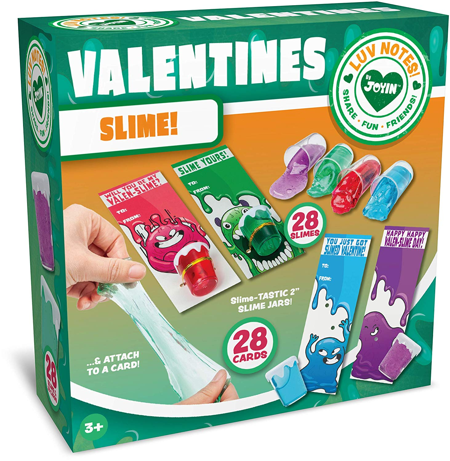 Valentine Cards with Slime
