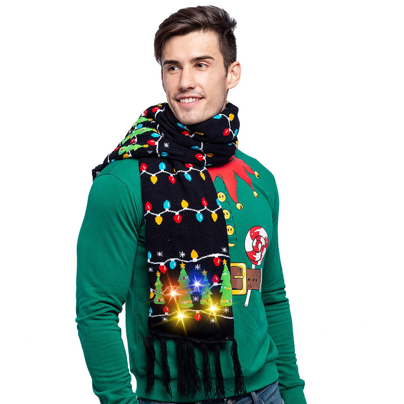 Christmas Lit-up Knitted Scarf