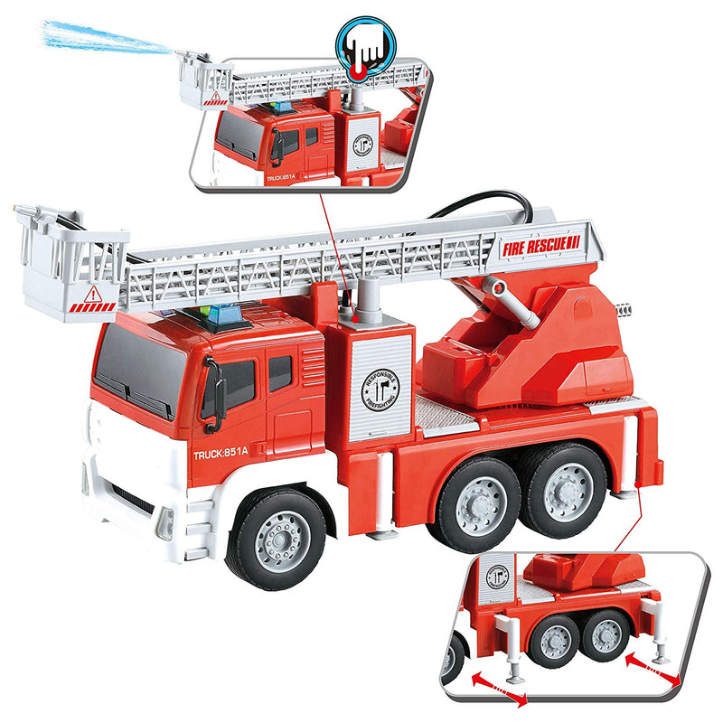 Jumbo Friction Powered Fire Engine Truck