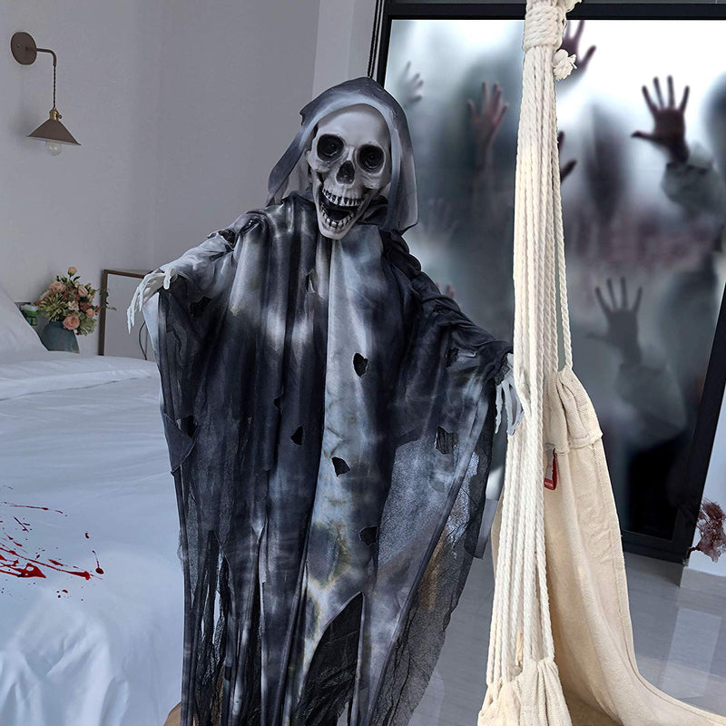 "36"" Animated Hanging Grim Reaper"