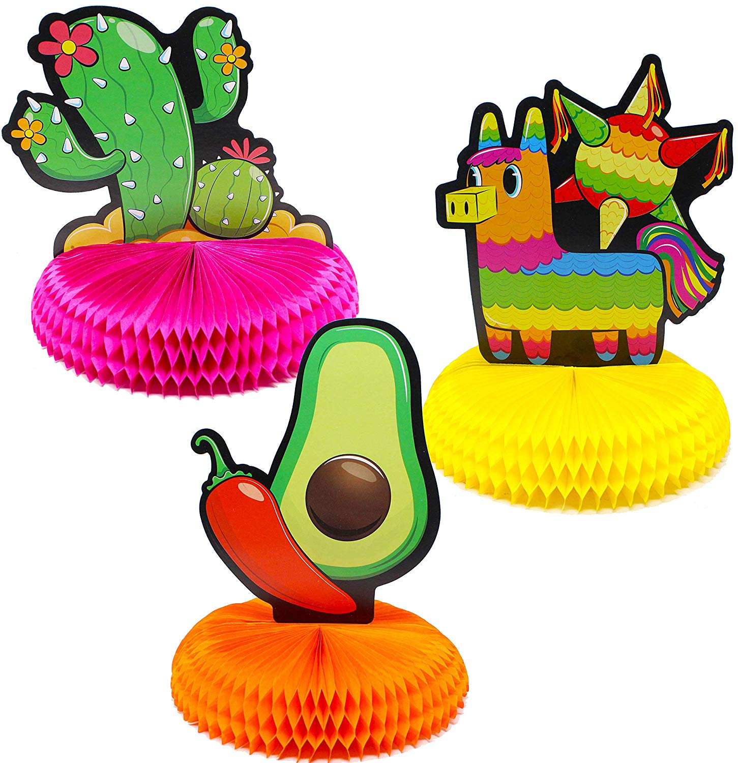 Cinco De Mayo Fiesta Honeycomb Table Centerpiece