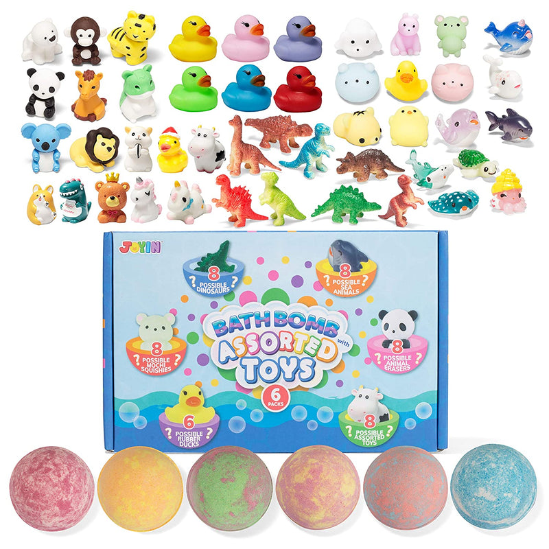 Bath Bombs with Assorted Toy for Kids