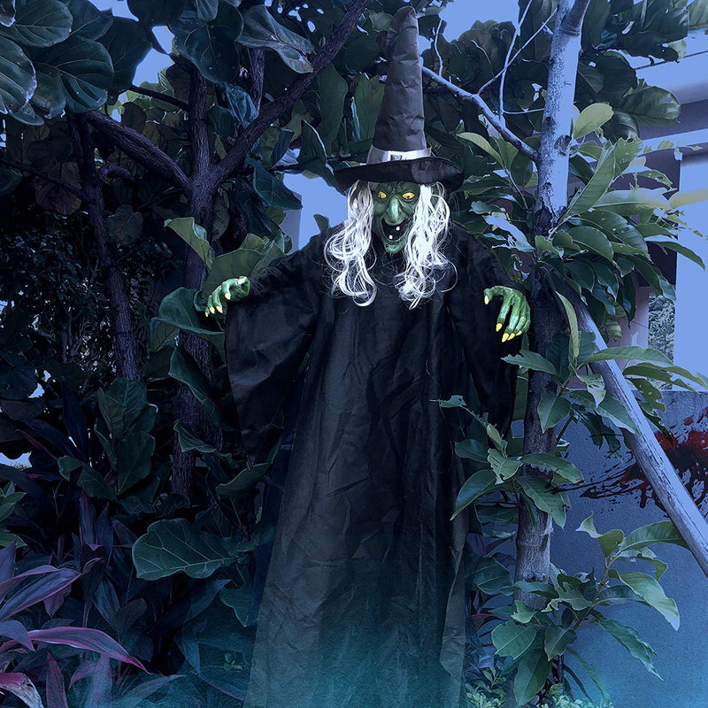 Life Size Hanging Creepy Animated Witch