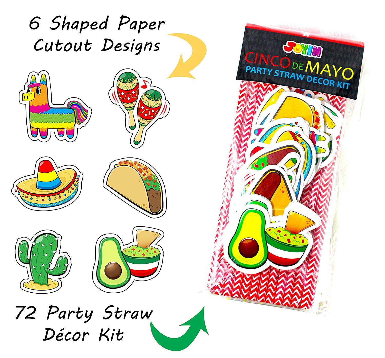 Cinco De Mayo Striped Straws