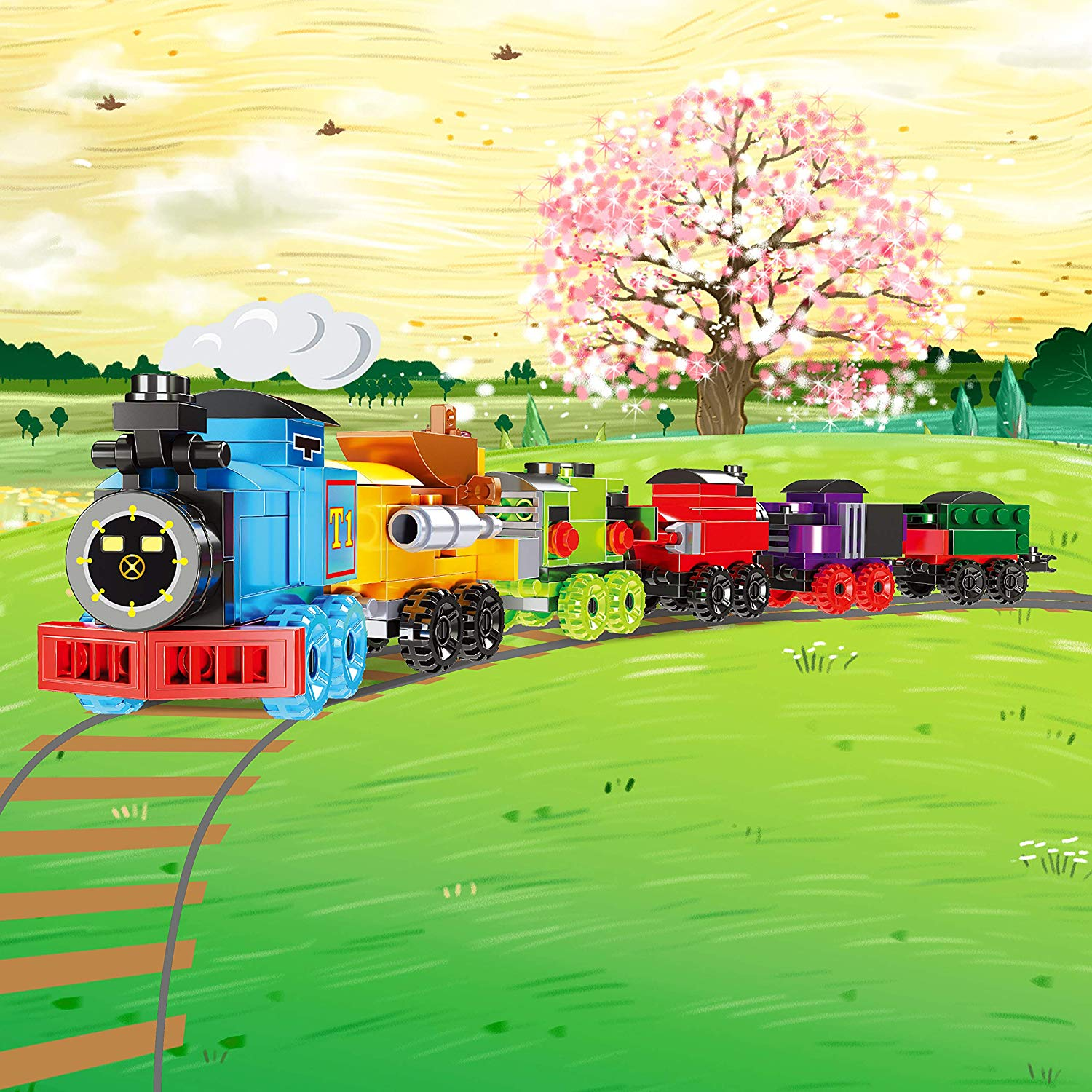 Prefilled Easter Eggs with Railway Engines