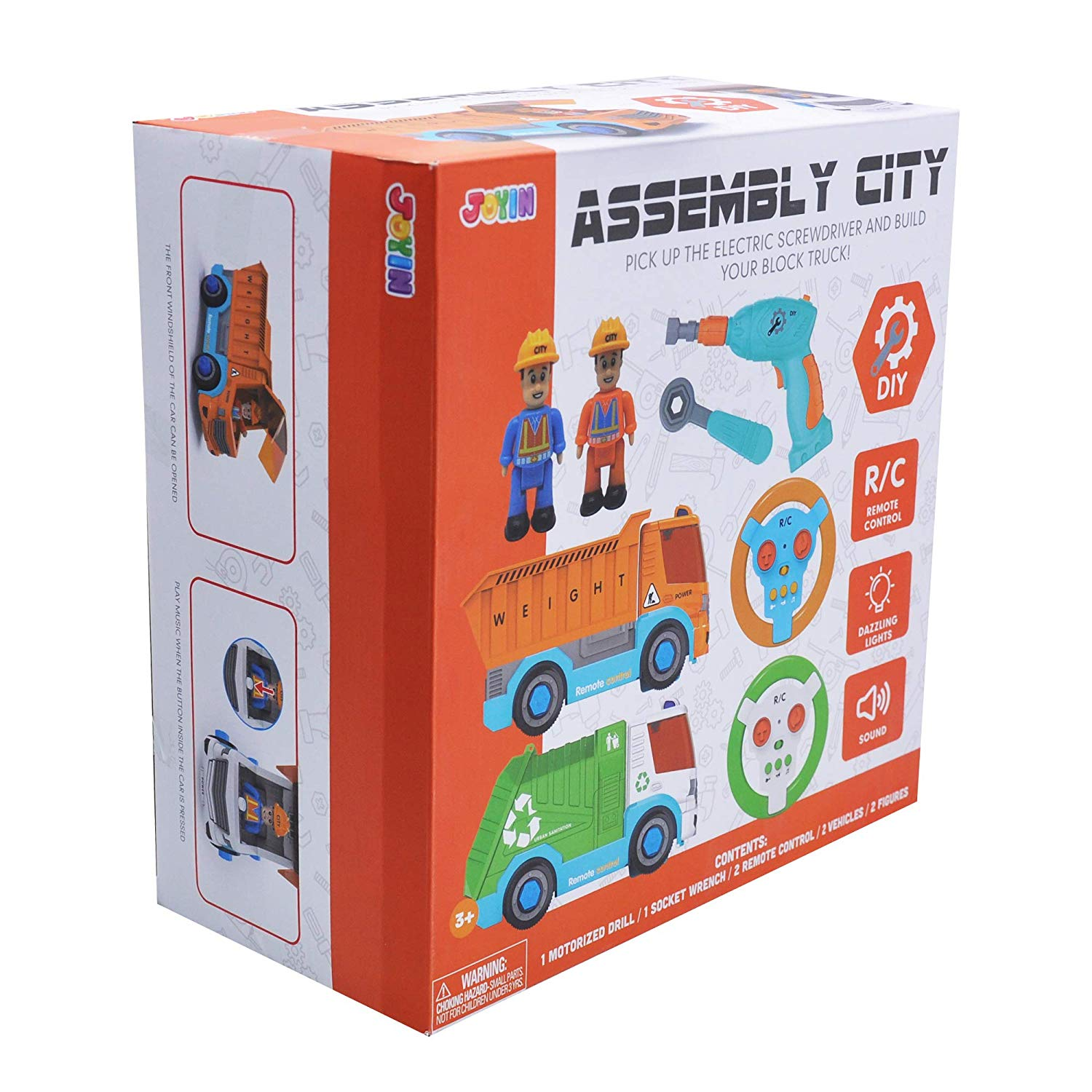 2 in 1 Assembly City Construction Trucks
