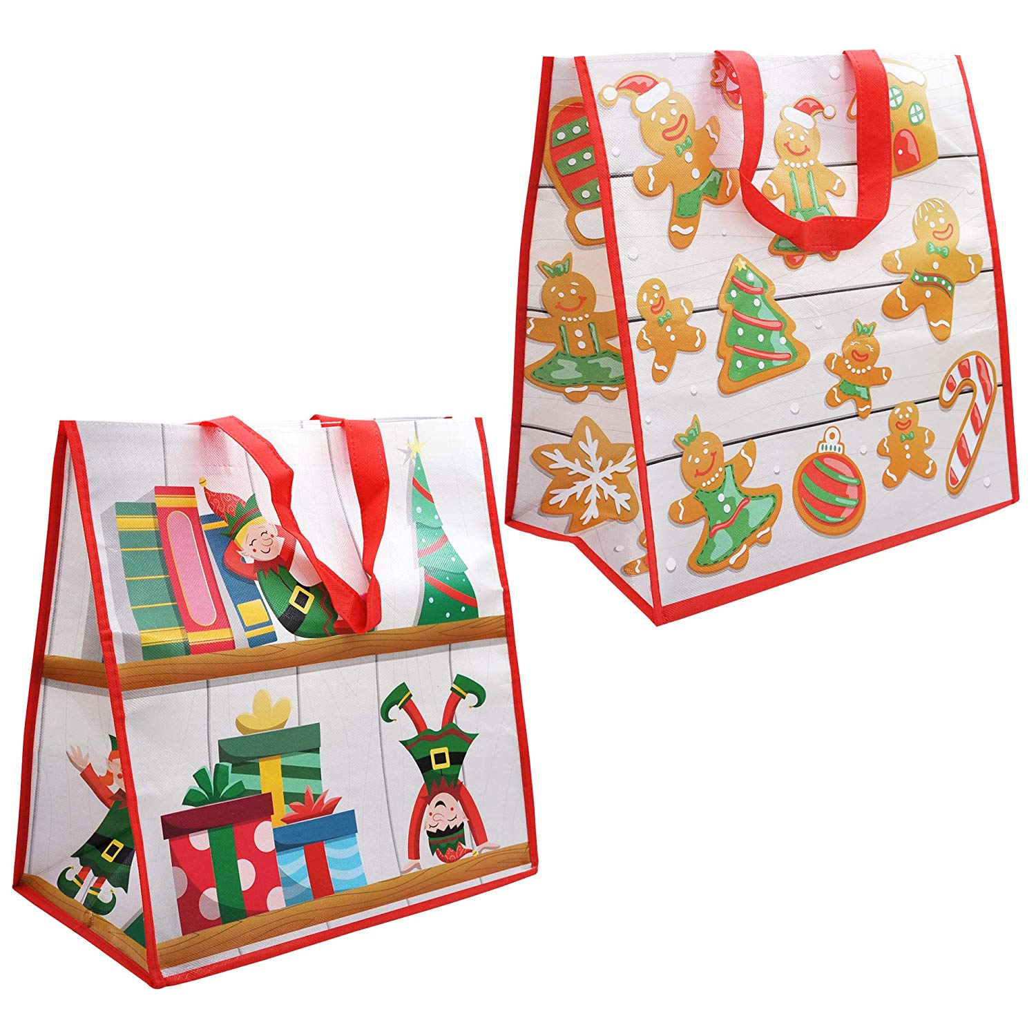 12 Piece Large Christmas Tote Bags