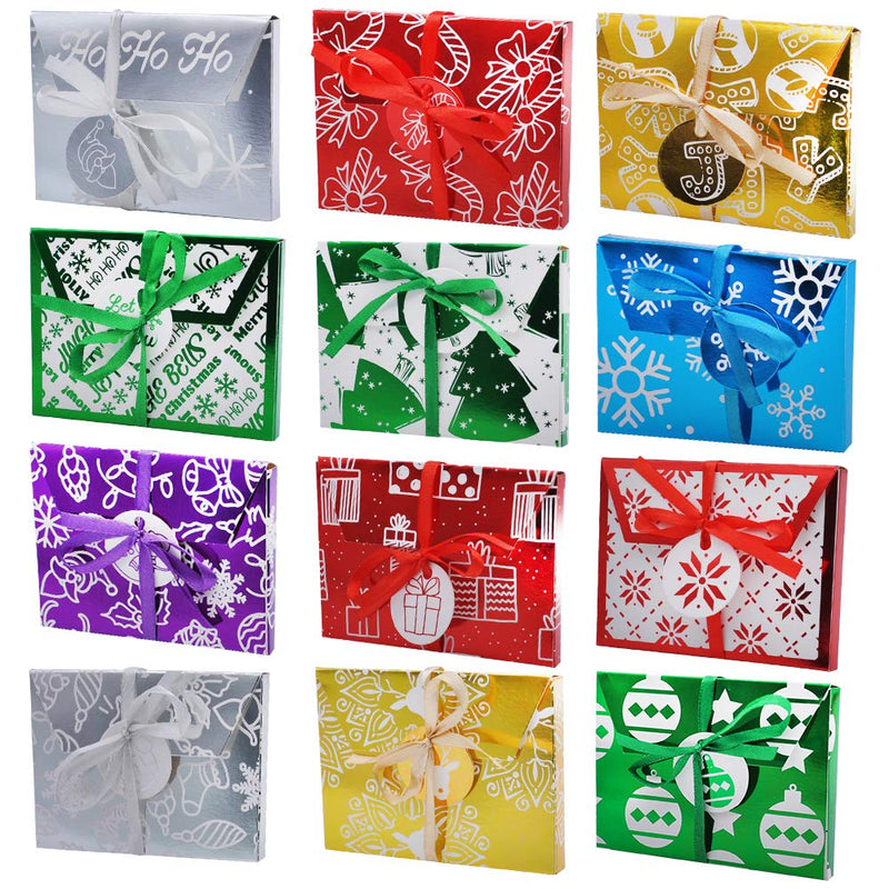 Christmas Gift Foil Wrapped Envelope Card Boxes