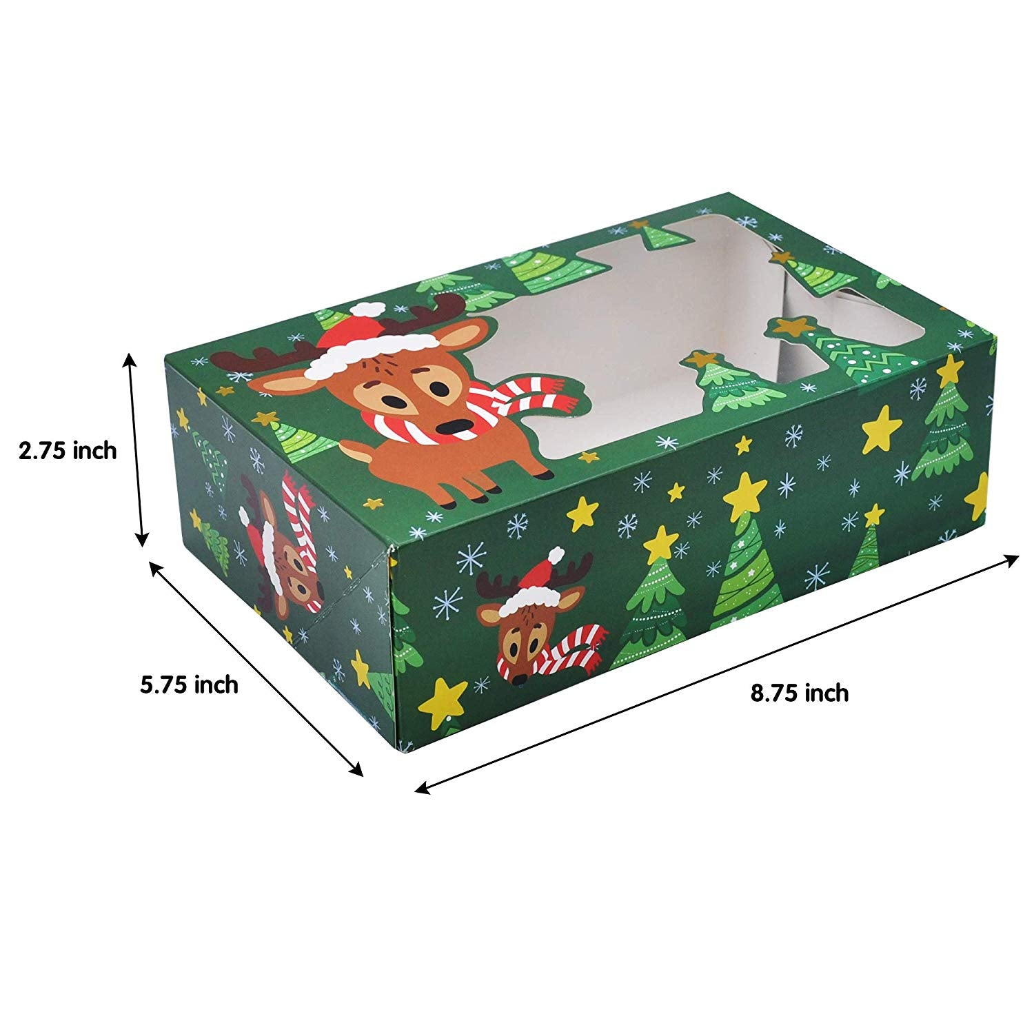 Christmas Foil Cookie Gift Box
