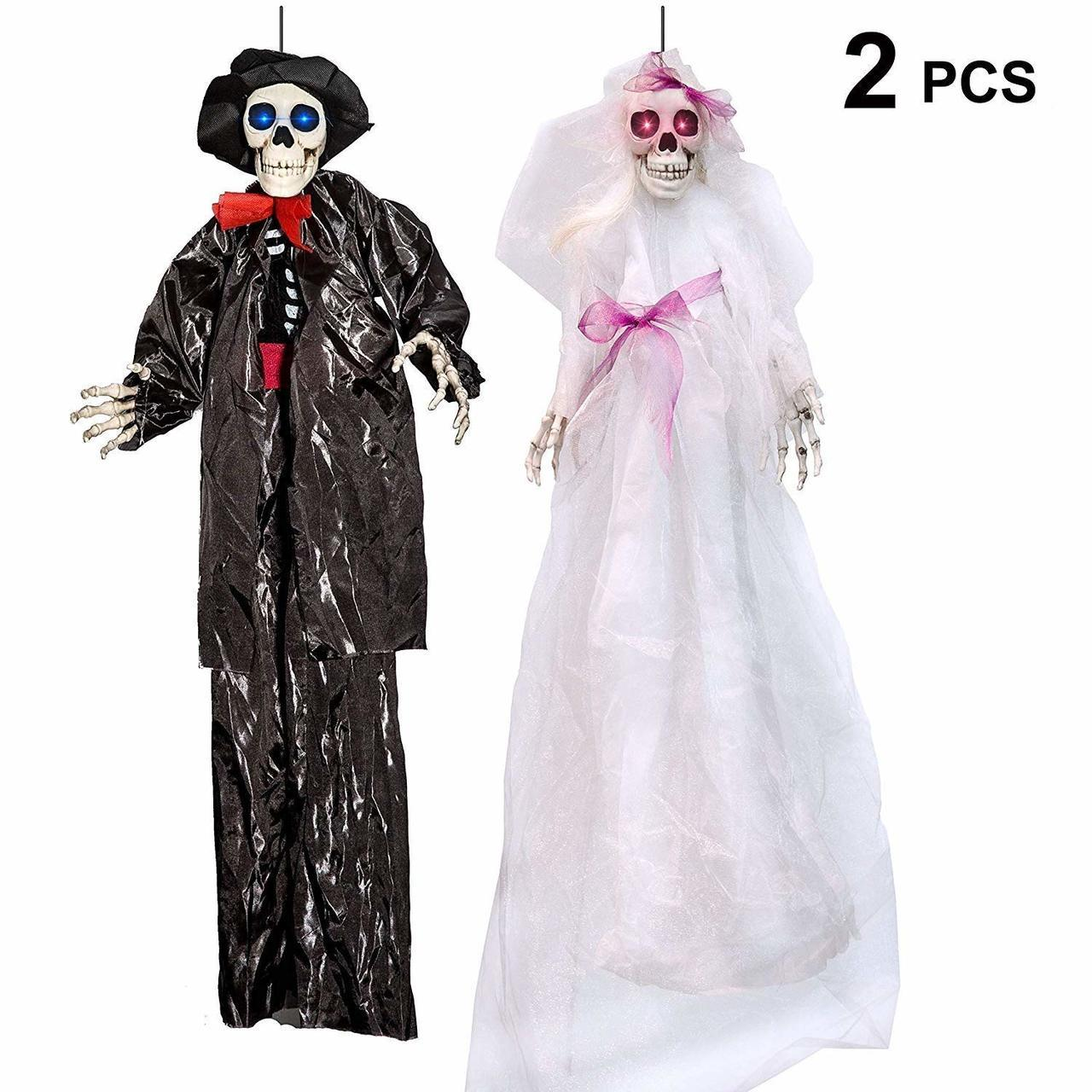 Hanging Bride and Groom Skeleton, Set of 2