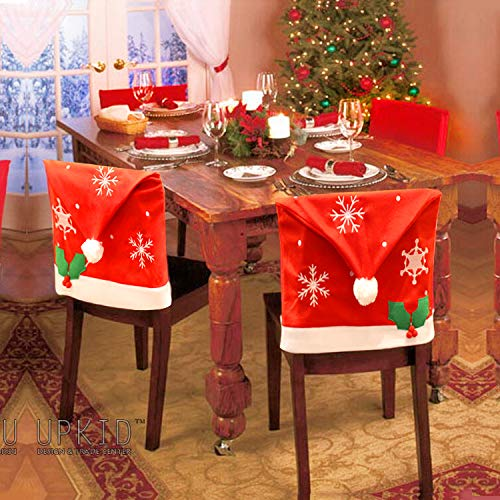 4 Piece Christmas Dining Chair Slipcovers