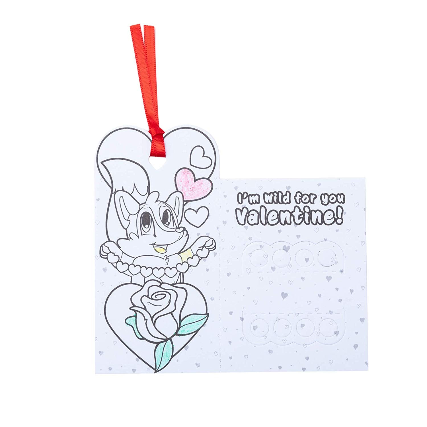 Valentine Card Set with Crayons