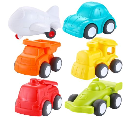 6 Pack Toddler Car Toys Push Go Free Wheel City Traffic