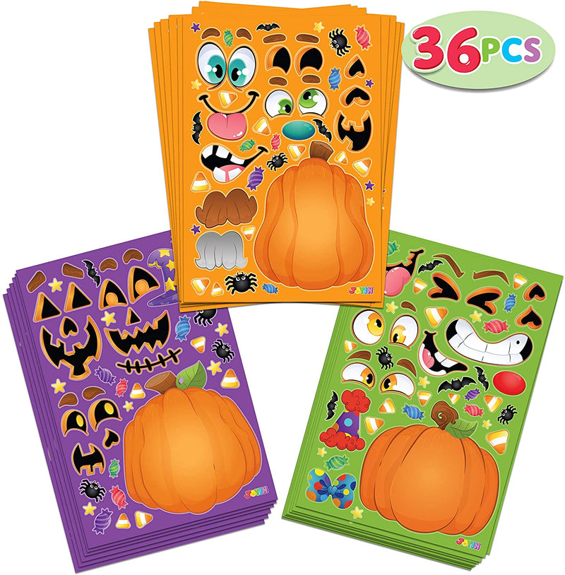 36 Piece Halloween Sticker Sheets