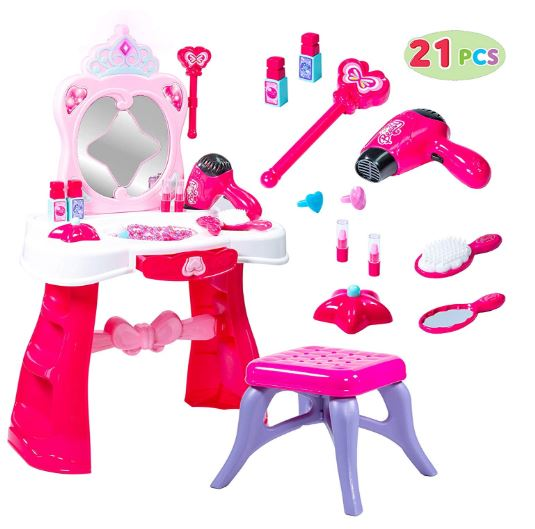 TODDLER FANTASY VANITY BEAUTY DRESSER PLAY SET