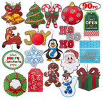 90 Pieces Large Christmas Holiday Gift Tag
