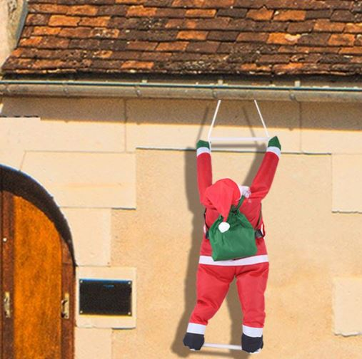"35"" Climbing Hanging Santa Claus for Christmas Decoration"