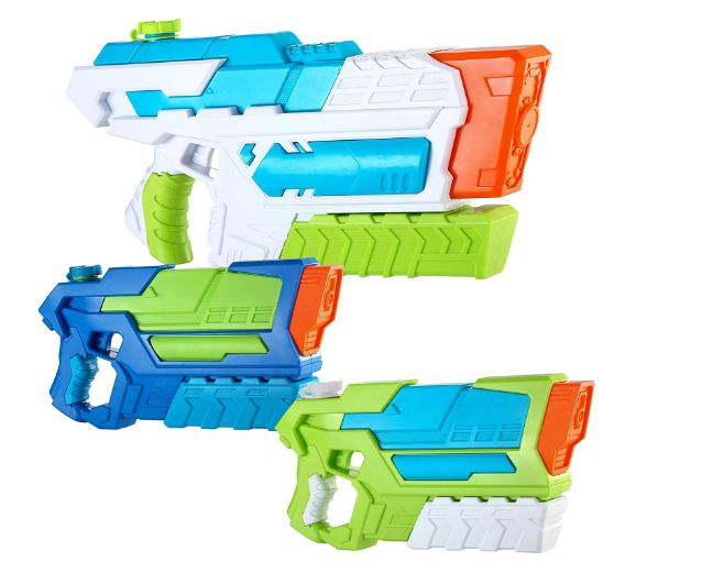 Spritz 2 Aqua Phaser and 1 Hydro Enforcer High Capacity Water Gun