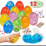 12 PCs Iridescent Silly Fluffy Slime Clear Colorful Putty with Accessories