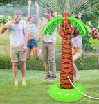 Inflatable Palm Tree Sprinkler, Lawn Sprinkler for Kids, 5 Feet Tall
