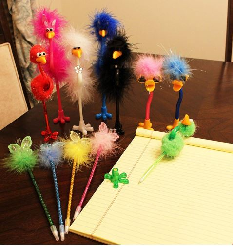 12 Pack Deluxe Feather Boa Marabou Pens Set Girls Party Favor