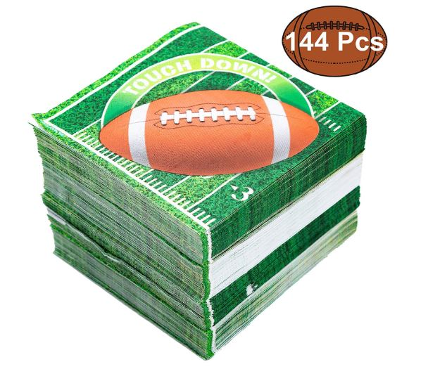 144 Count Touchdown Football Game Day Themed Paper Napkins