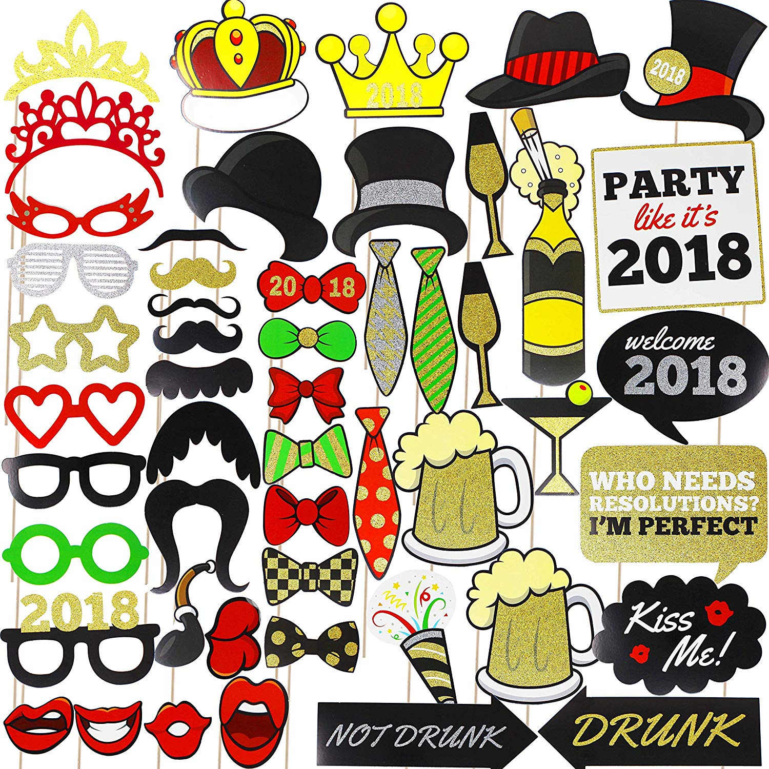 New Year Eve Photo Booth Props