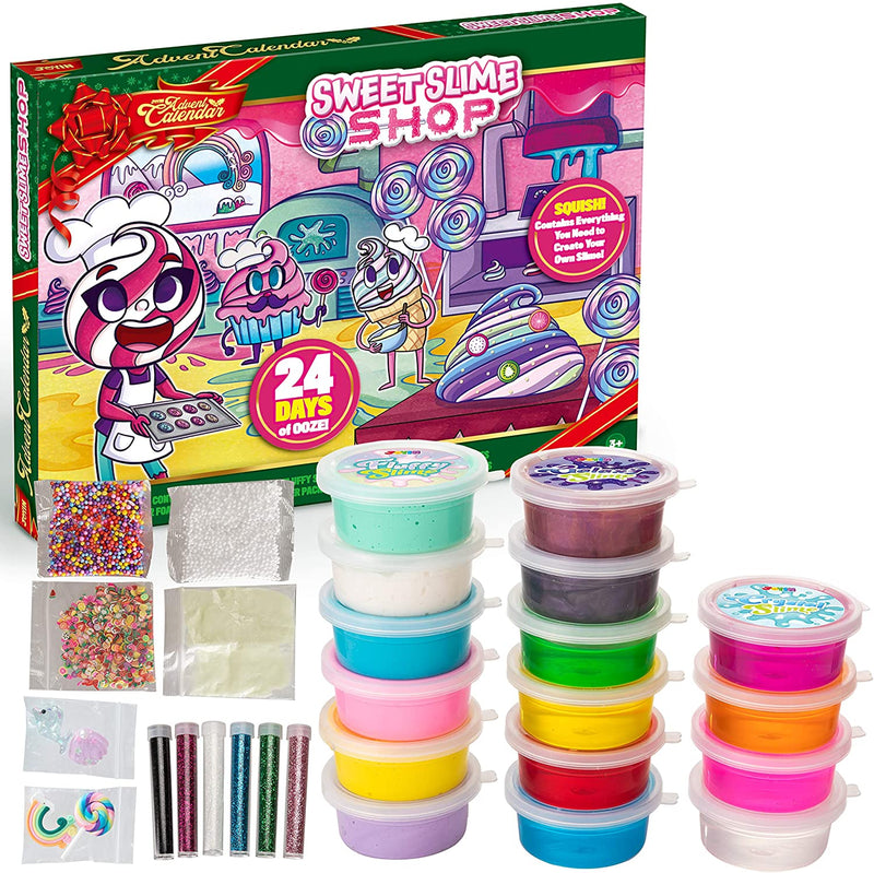 2020 Christmas Advent Calendar with Slime and Accessories