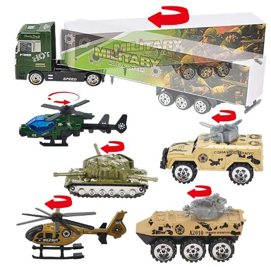 10-IN-1 DIE-CAST MILITARY ARMY MINI VEHICLE TOY SET