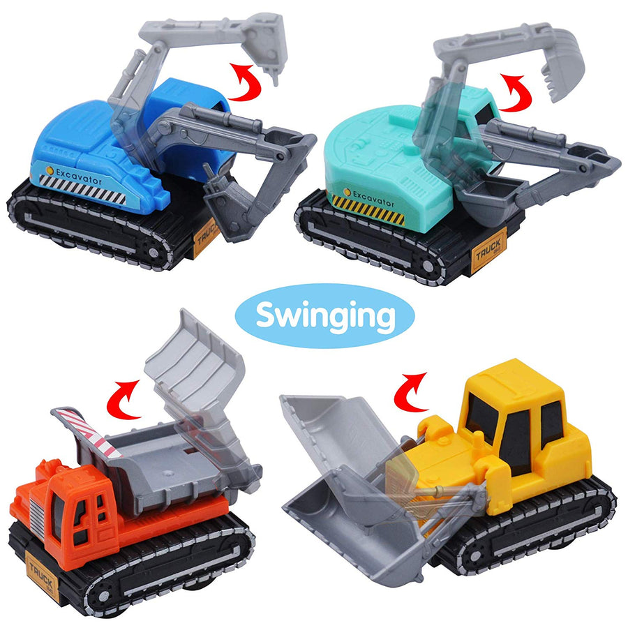 Pull Back City Cars and Trucks Toy Vehicles Set
