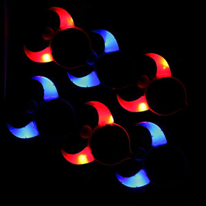6 Pcs LED Light-up Devil Horns Hair Clips for Halloween (3 Red and 3 Blue)