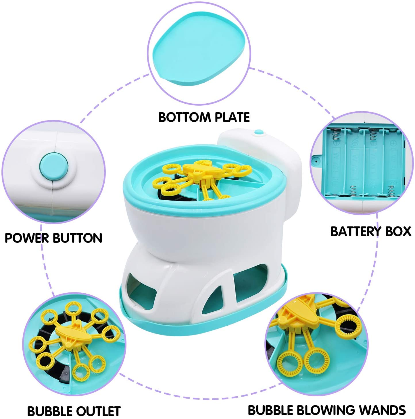 Bubble Blower Blaster Toilet