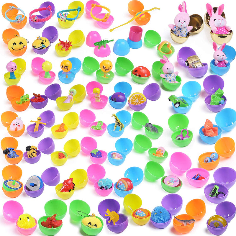 60 PRE FILLED EASTER EGGS WITH NOVELTY TOYS