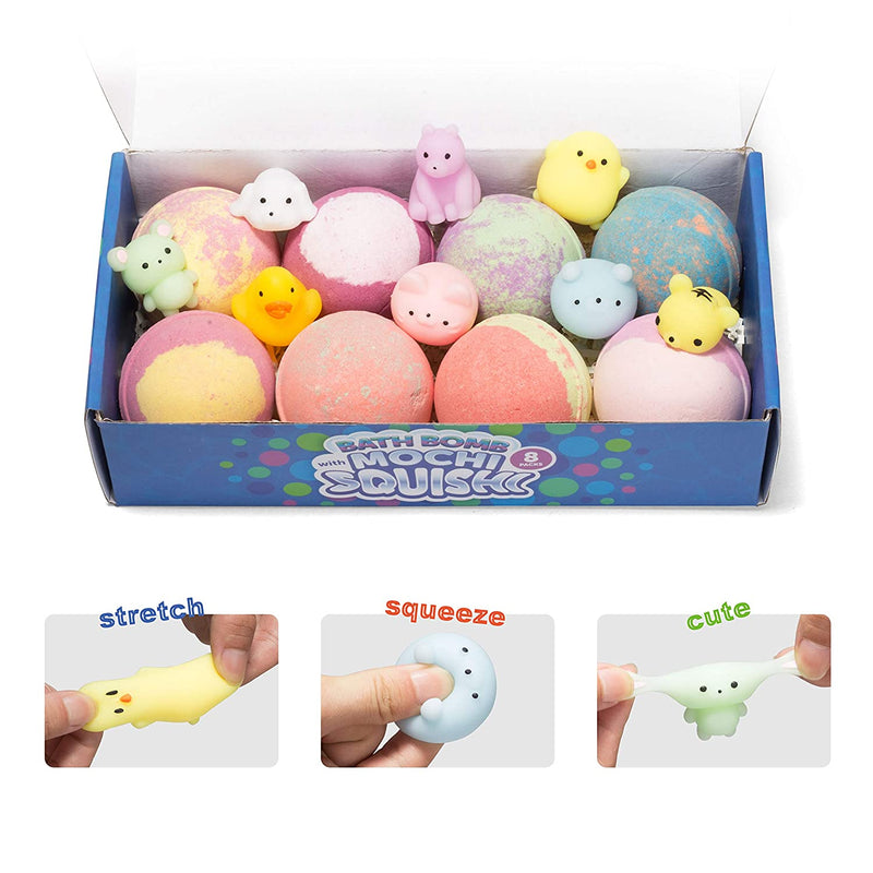 Bath Bombs for Kids with Mochi Squishy