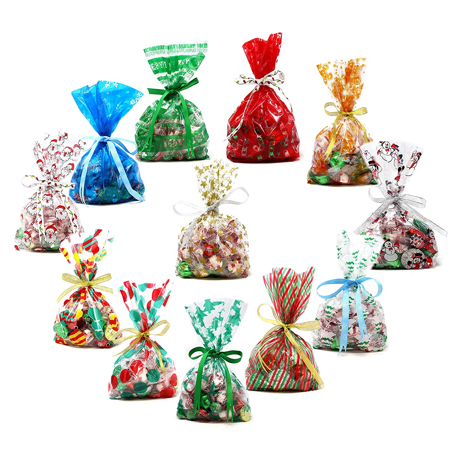 Christmas Cellophane Goody Bags Assortment