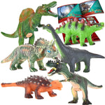 Educational Realistic Dinosaur Figures with Dinosaur Booklet